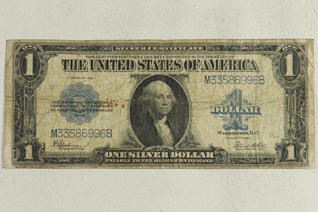 1923 LARGE SIZE $1 SILVER CERTIFICATE BLUE SEAL