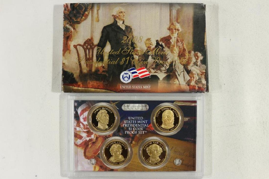 2008 PRESIDENTIAL DOLLAR PROOF SET WITH BOX