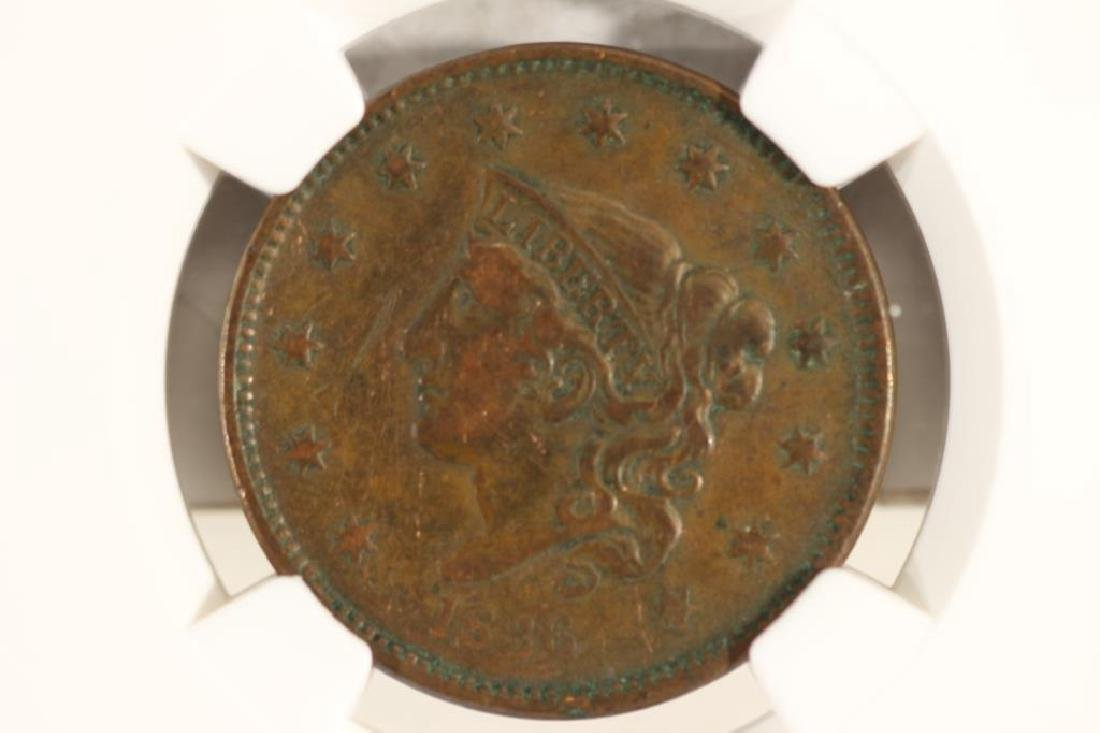 1836 US LARGE CENT NGC VERY FINE DETAILS