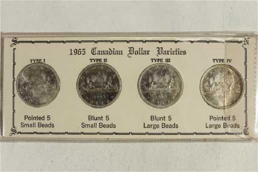 1965 CANADIAN SILVER DOLLAR VARIETIES TYPE SET