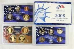 2008 US PROOF SET WITH BOX 14 PIECES