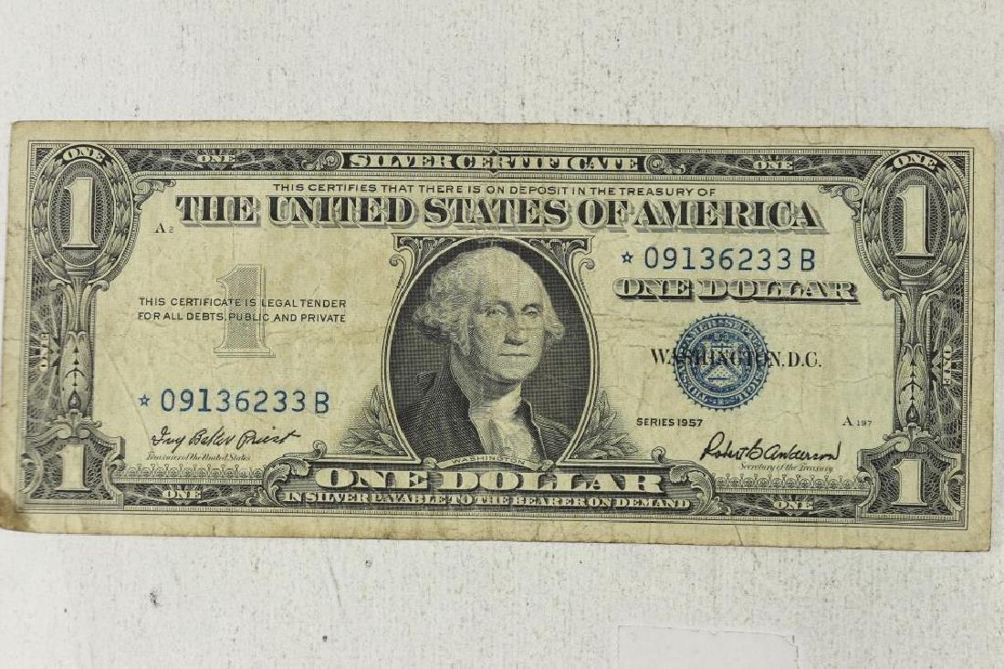 1957 $1 SILVER CERTIFICATE STAR NOTE