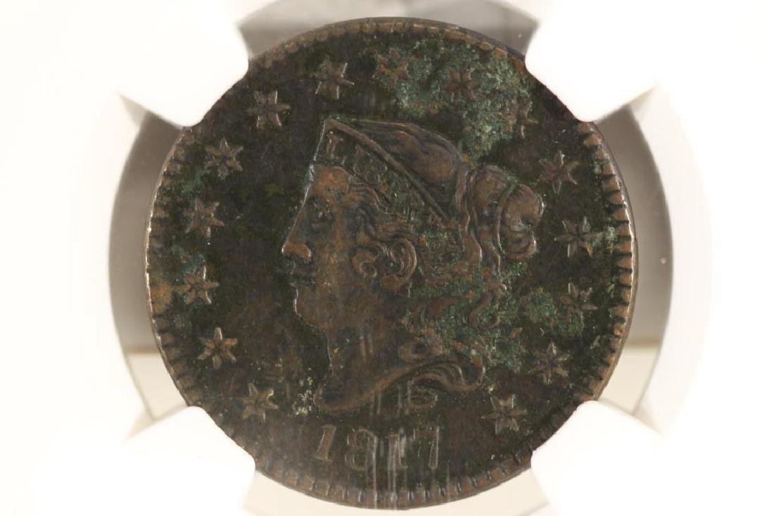 1817 US LARGE CENT NGC XF DETAILS