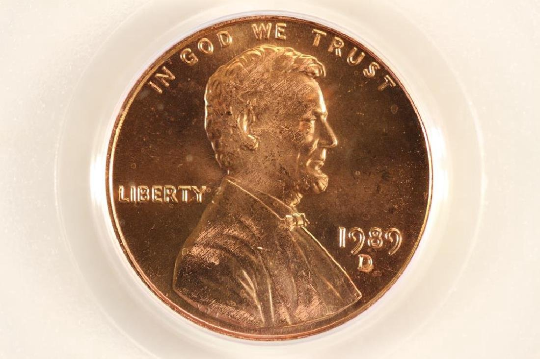 1989-D LINCOLN CENT PCGS MS67RD