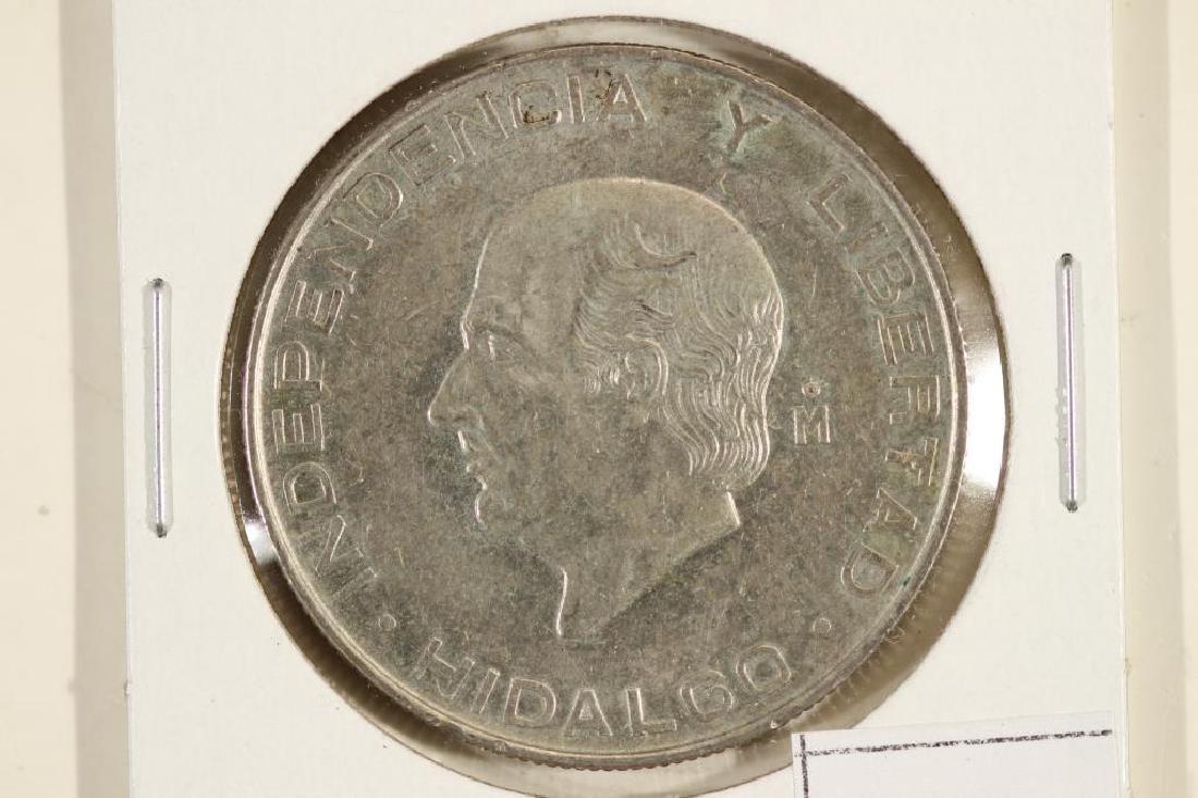 1957 MEXICO SILVER 5 PESOS .4178 OZ. ASW