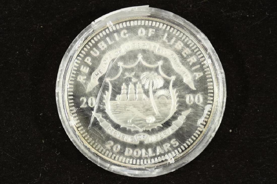 2000 REPUBLIC OF LIBERIA SILVER PROOF $20 JOHN F. - 2