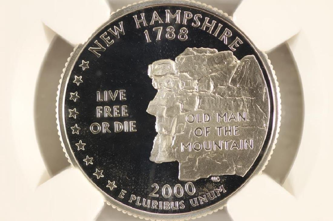 2000-S SILVER NEW HAMPSHIRE QUARTER NGC PF69