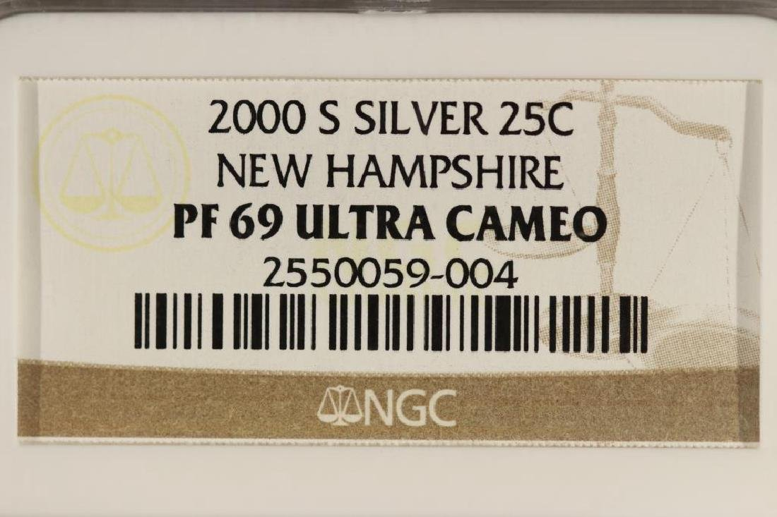 2000-S SILVER NEW HAMPSHIRE QUARTER NGC PF69 - 3
