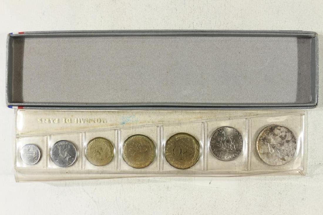 1964 FRANCE 7 COIN MINT SET WITH SILVER - 2