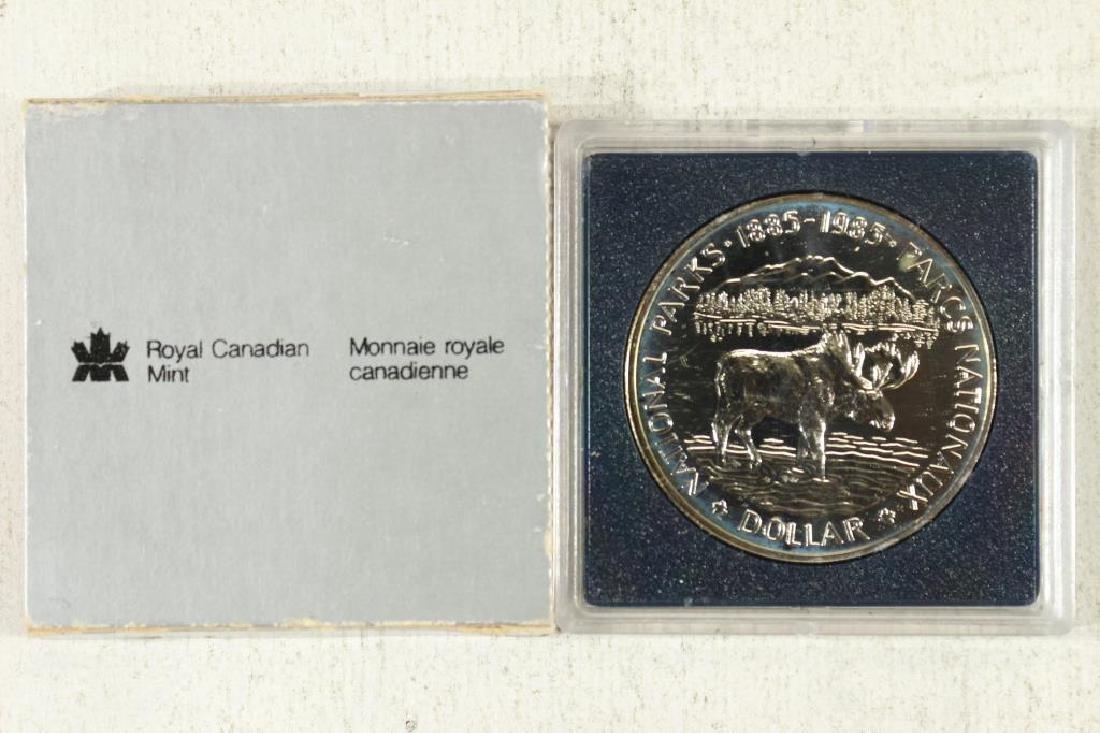 1985 CANADA NATIONAL PARKS SILVER DOLLAR (PF LIKE)