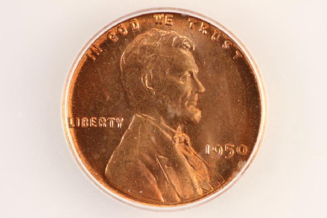 1950 LINCOLN CENT ICG MS66RD
