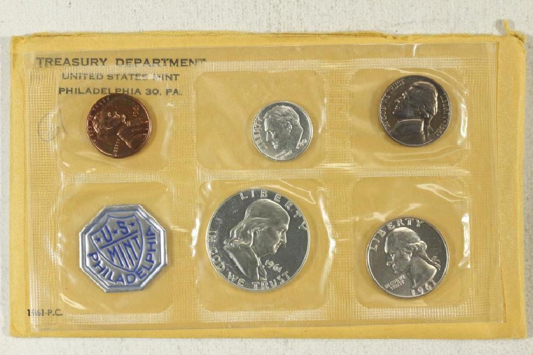 1961 US SILVER PROOF SET (WITH ENVELOPE)