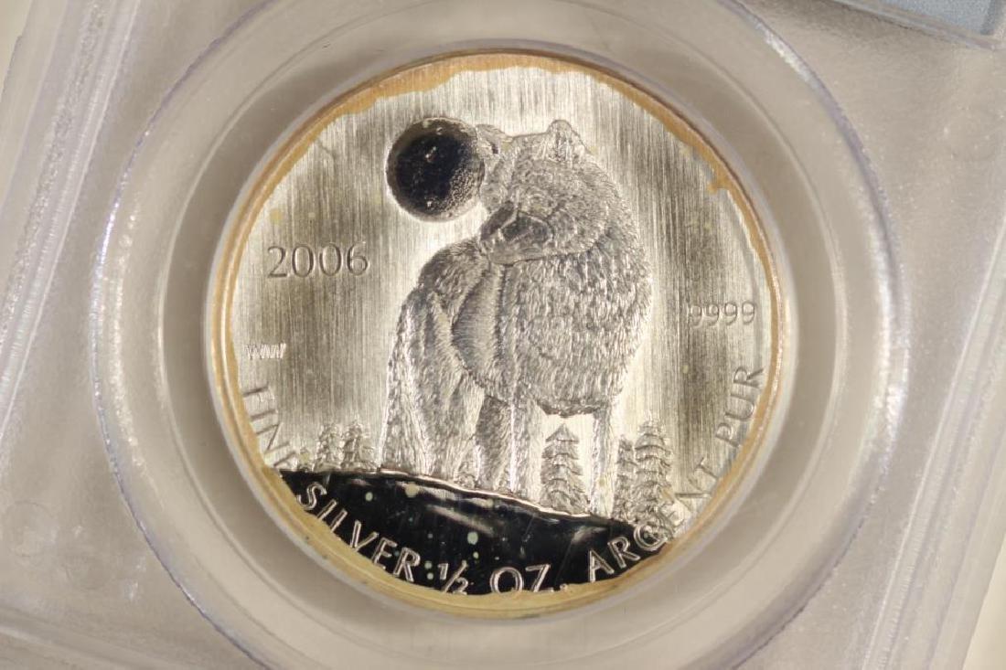 2006 CANADA WOLF SILVER DOLLAR PCGS MS66