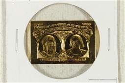 14.8 GRAM 24KT GOLD PLATED STERLING SILVER INGOT