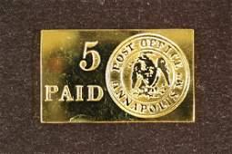 17.9 GRAM 24KT GOLD PLATED STERLING SILVER INGOT