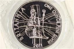 2011 GREAT BRITAIN SILVER 2 POUND BRITANNIA