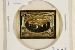 10.8 GRAM 24KT GOLD PLATED STERLING SILVER INGOT