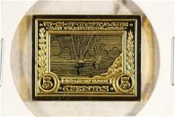 11.1 GRAM 24KT GOLD PLATED STERLING SILVER INGOT