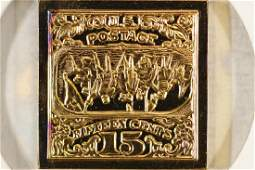 9.7 GRAM 24KT GOLD PLATED STERLING SILVER INGOT