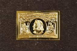 15.5 GRAM 24KT GOLD PLATED STERLING SILVER INGOT