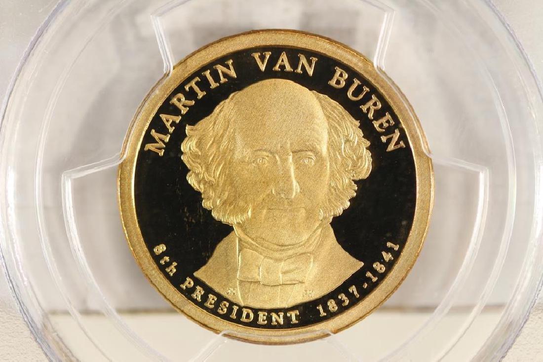 2008-S MARTIN VAN BUREN DOLLAR PCGS PR69 DCAM