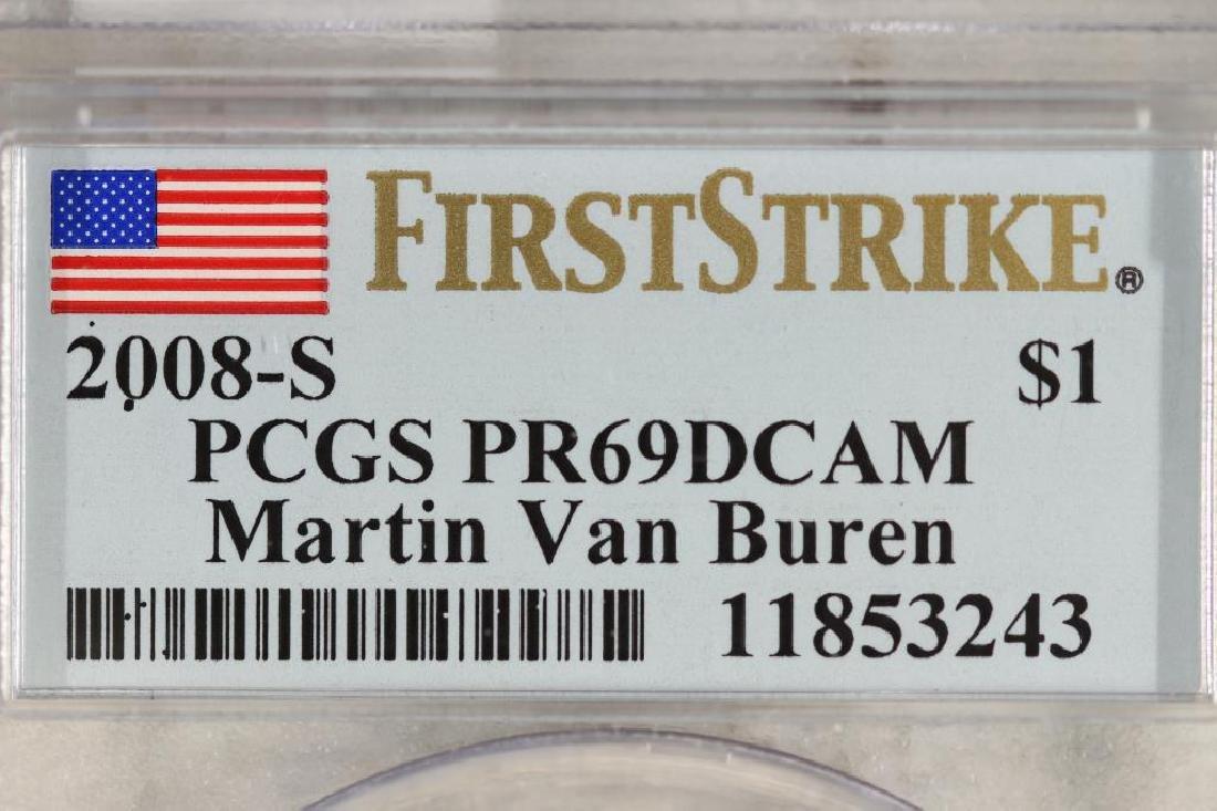2008-S MARTIN VAN BUREN DOLLAR PCGS PR69 DCAM - 3