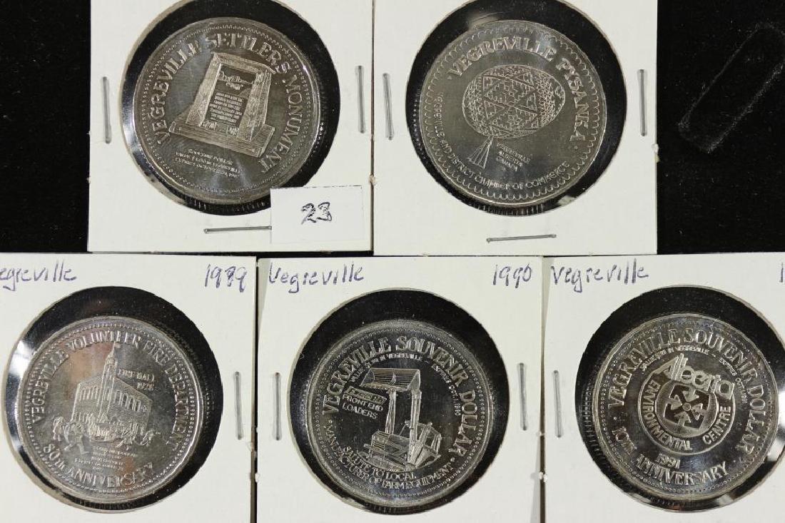 1987,88,89,90,91 VEGREVILLE CANADA TRADE DOLLARS