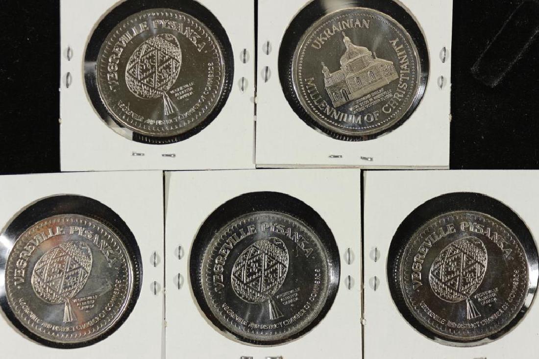 1987,88,89,90,91 VEGREVILLE CANADA TRADE DOLLARS - 2
