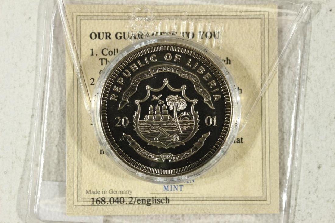 2001 REPUBLIC OF LIBERIA $5 UNC 200 YEARS OF - 2