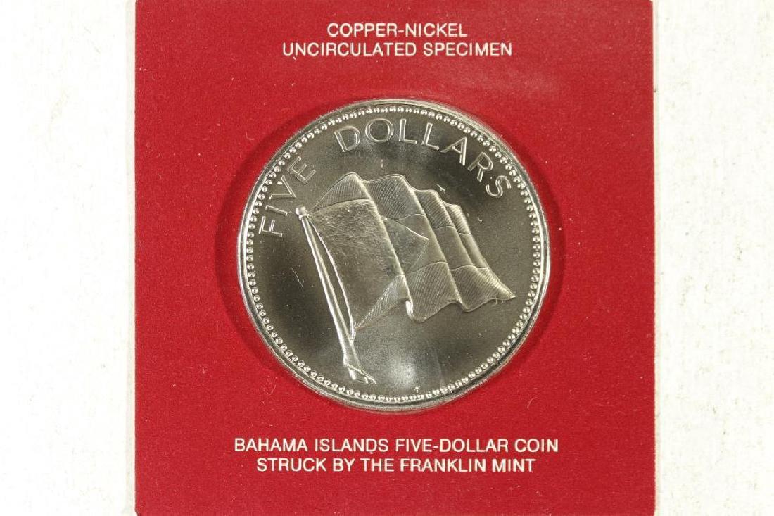 1974 BAHAMAS $5 UNC SPECIMEN