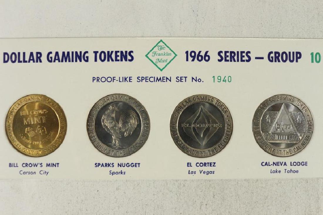 1966 SERIES FRANKLIN MINT $1 GAMING TOKENS GROUP
