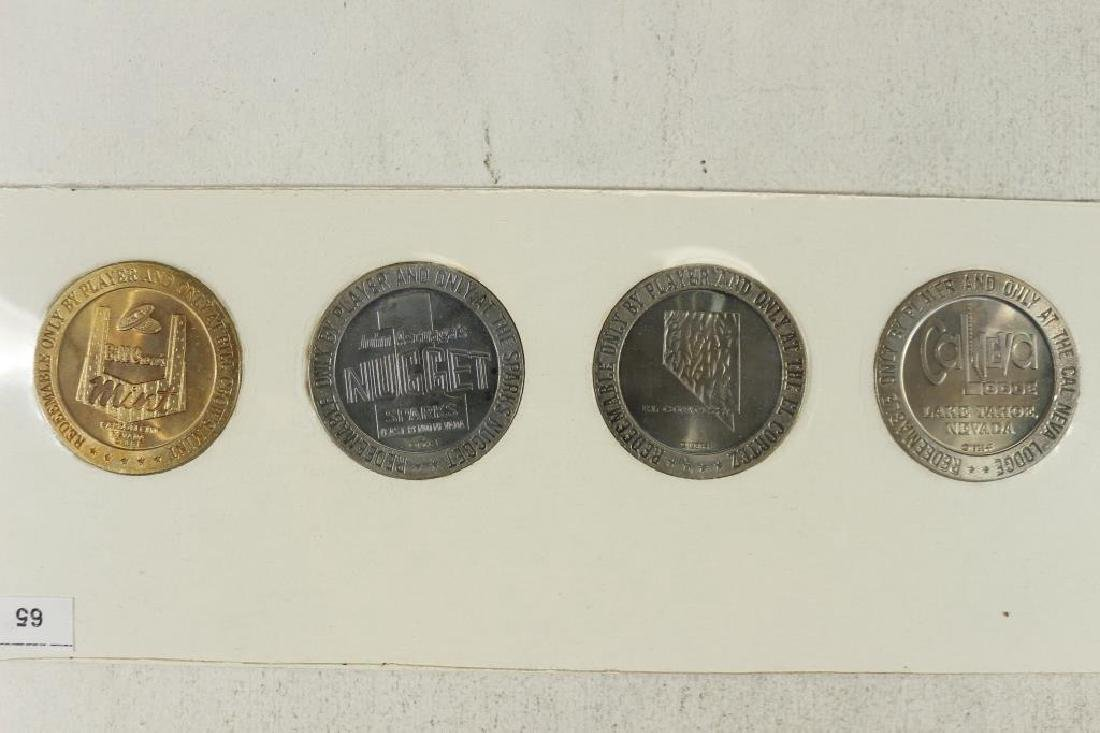 1966 SERIES FRANKLIN MINT $1 GAMING TOKENS GROUP - 2