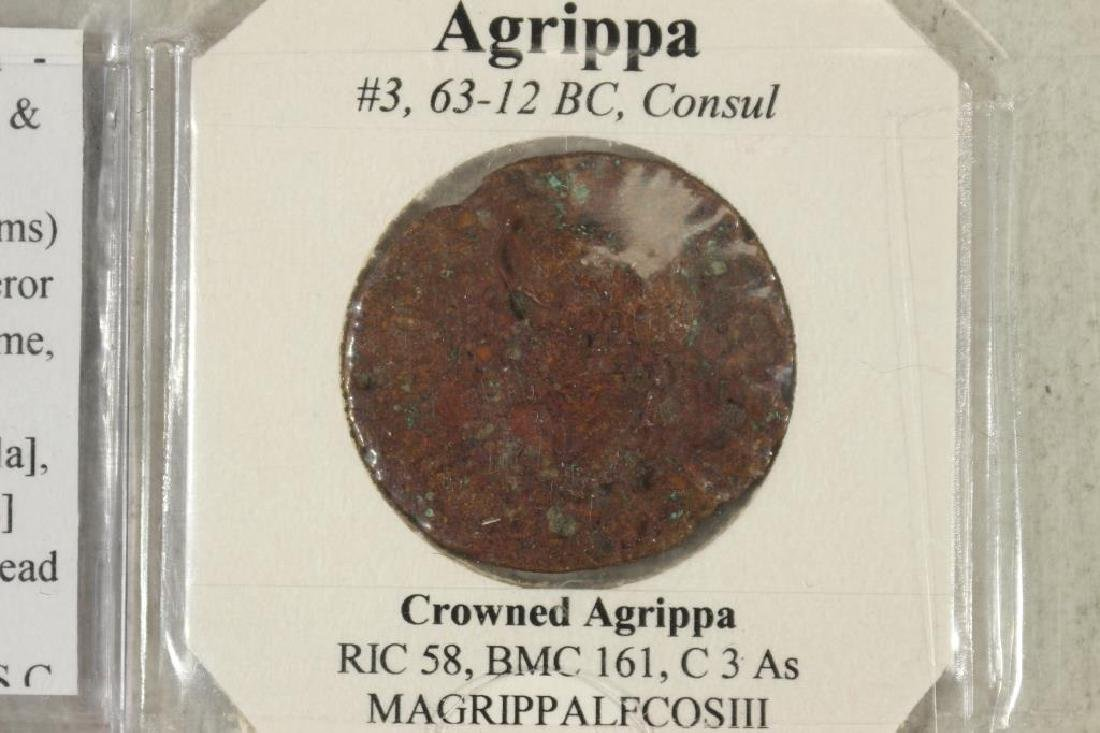 63-12 B.C. AGRIPPA ANCIENT COIN - 2