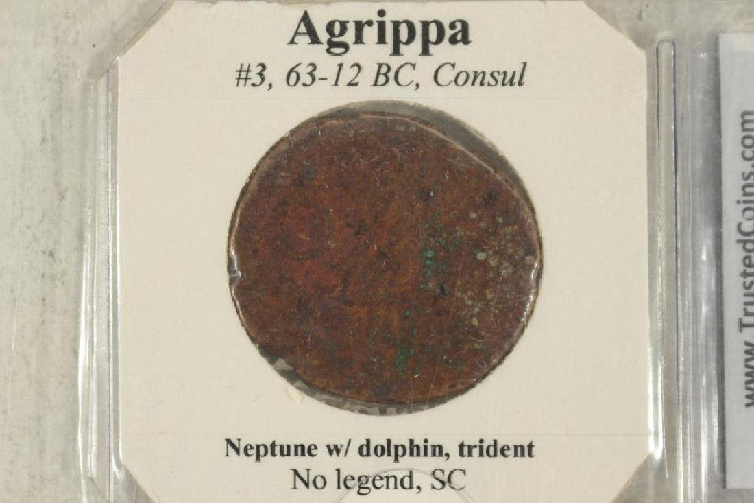 63-12 B.C. AGRIPPA ANCIENT COIN - 3