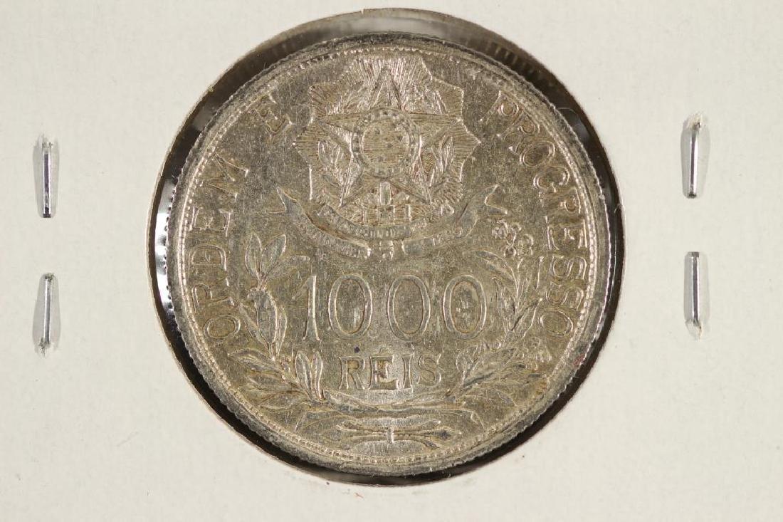 1913 BRAZIL SILVER 1000 REIS - 2