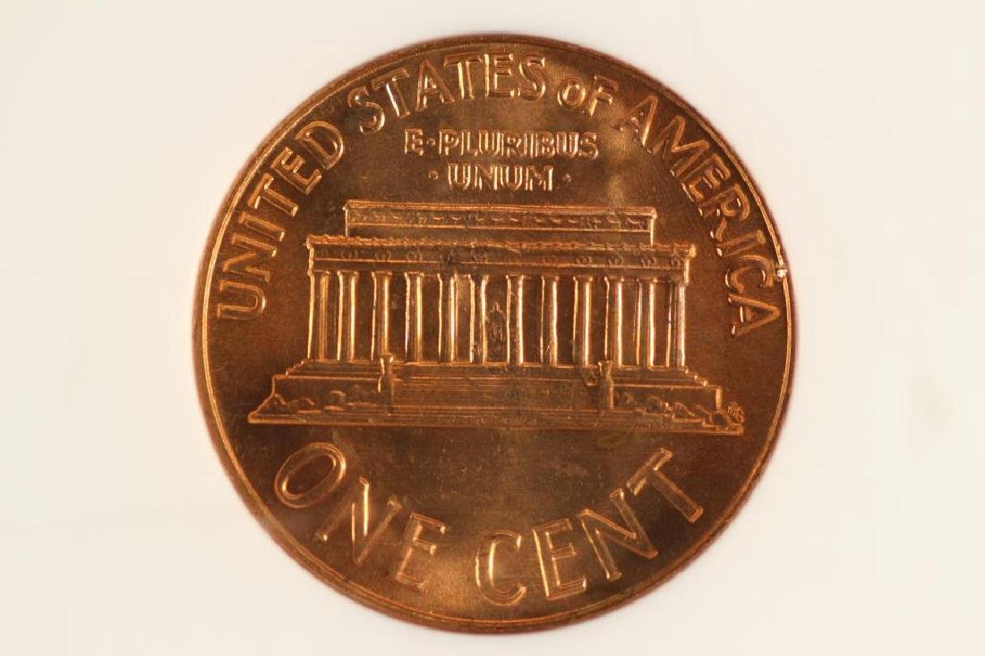 1963 LINCOLN CENT NGC MS64RD - 2