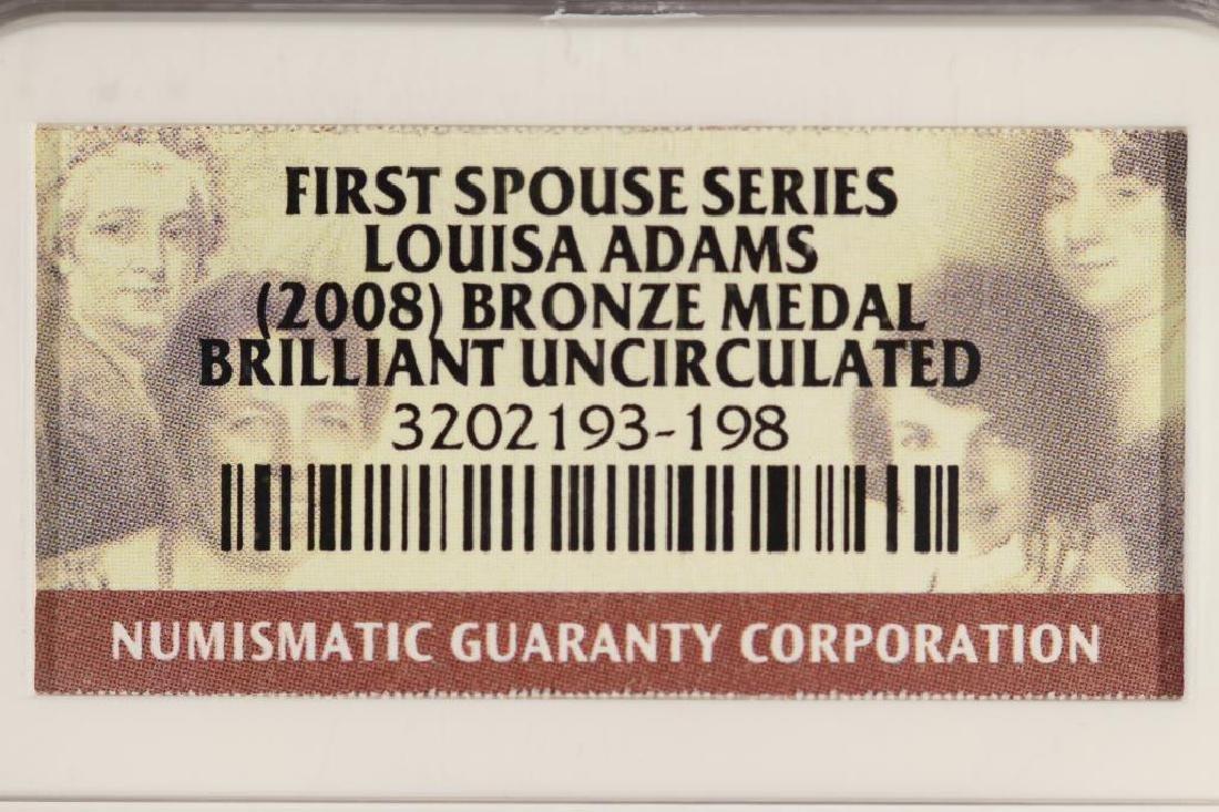 2008 LOUISA ADAMS 1ST SPOUSE SERIES BRONZE MEDAL - 3