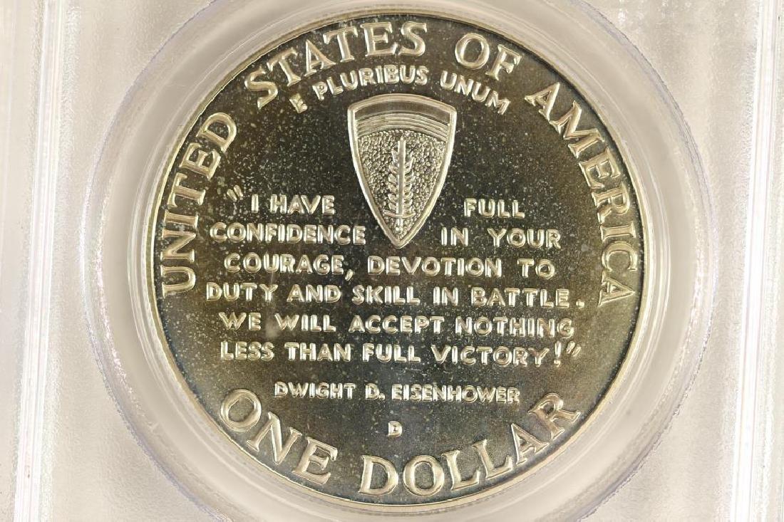 1991-95-D WWII COMMEMORATIVE SILVER DOLLAR PCGS - 2