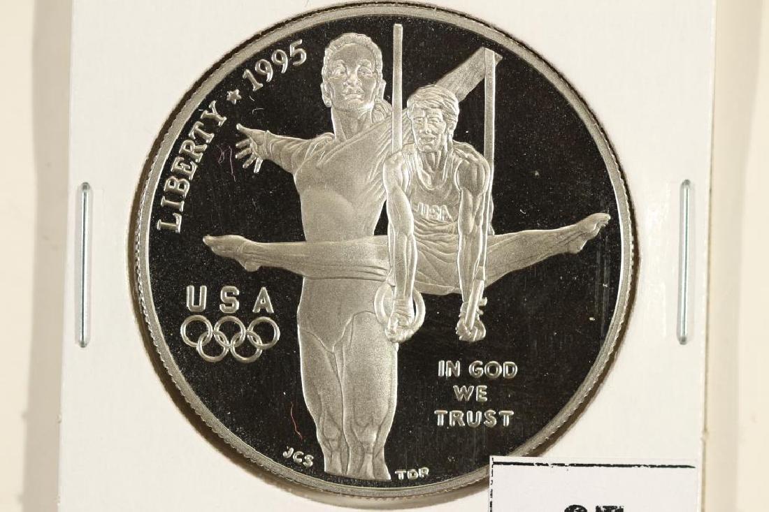 1995-P OLYMPICS GYMNAST PF SILVER DOLLAR
