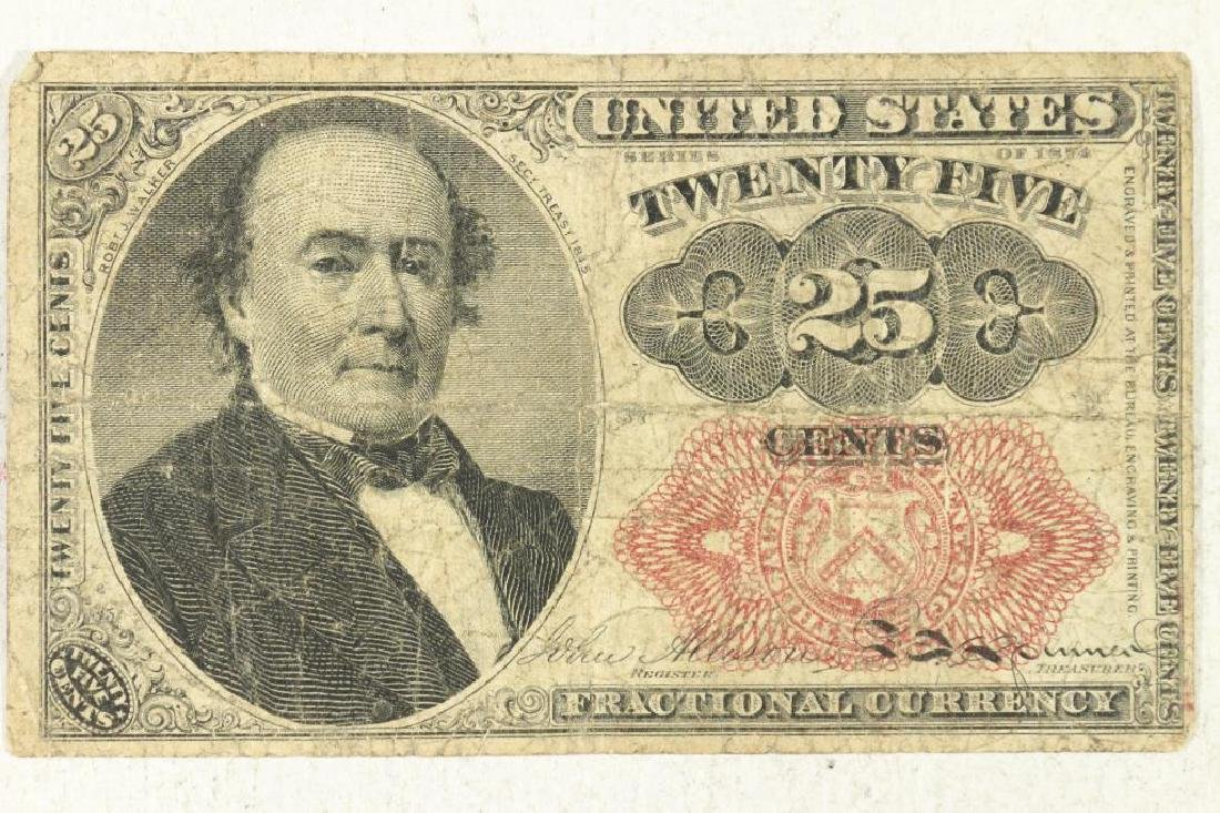 1874-25 CENT US FRACTIONAL CURRENCY