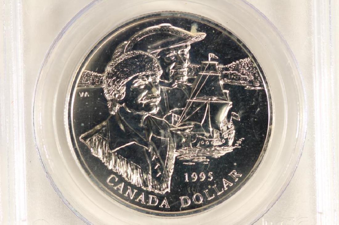 1995 CANADA HUDSON BAY COMPANY SILVER DOLLAR