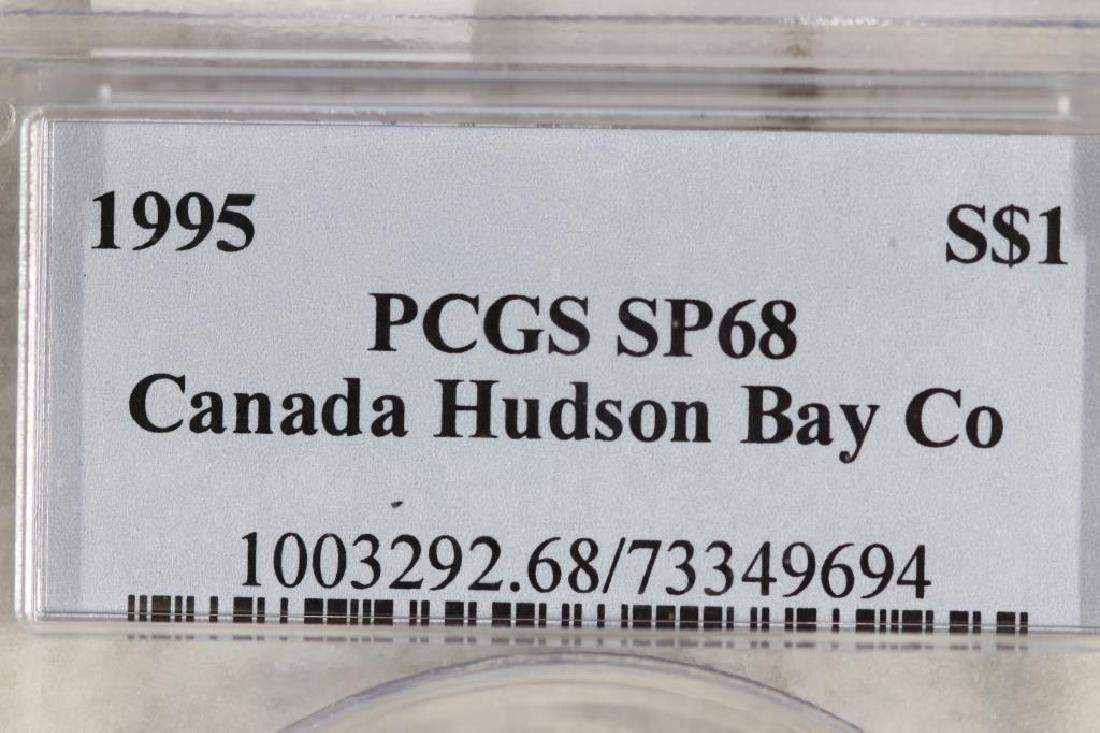 1995 CANADA HUDSON BAY COMPANY SILVER DOLLAR - 3