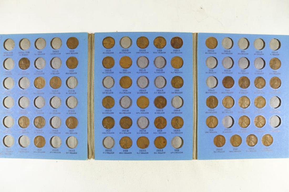 2 PARTIAL LINCOLN CENT SETS 1909-1940 45 COINS AND