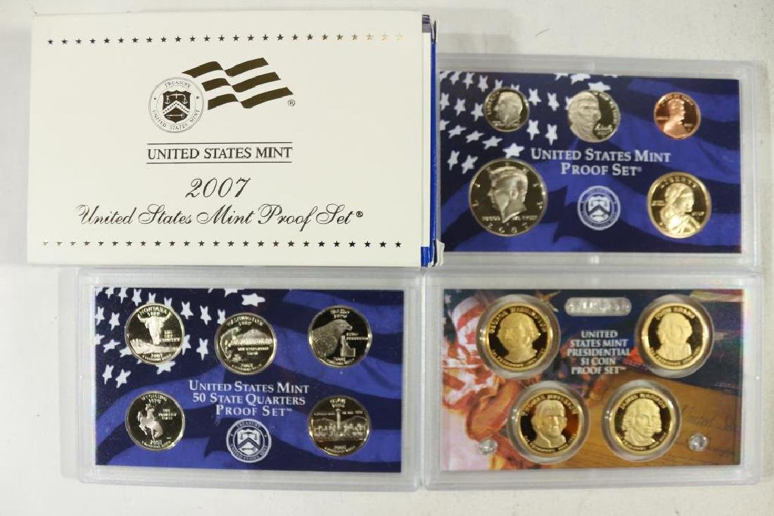 2007 US PROOF SET (WITH BOX) 14 PIECES
