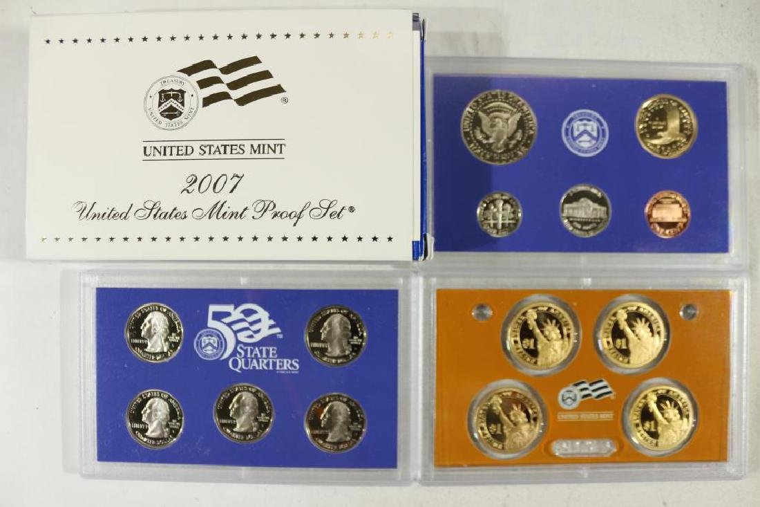 2007 US PROOF SET (WITH BOX) 14 PIECES - 2