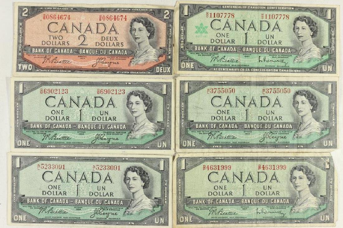 $7 FACE VALUE OF CANADIAN CURRENCY SEE DESCRIPTION
