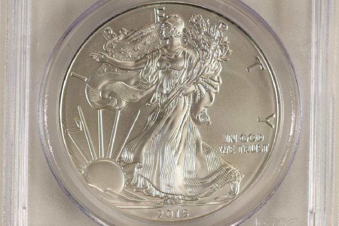 2015-W AMERICAN SILVER EAGLE PCGS SP70 1ST DAY