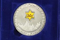 2007 ISRAEL SILVER HOLOCAUST MEDAL 49 GRAM