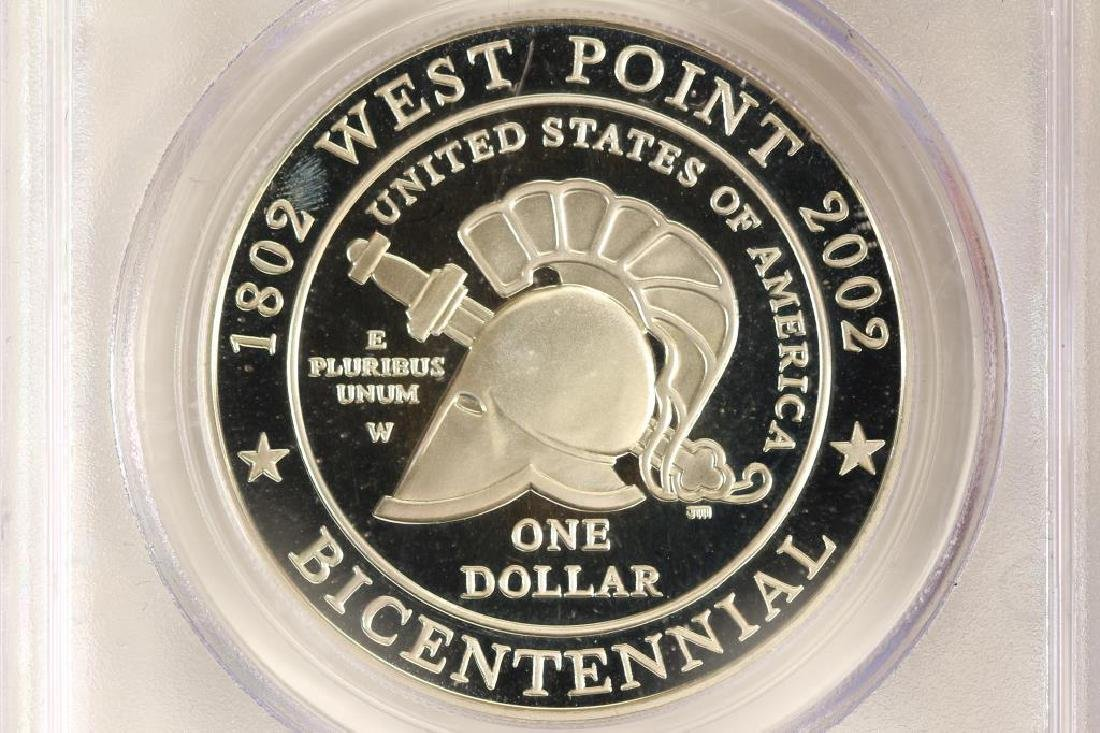 2002-W WEST POINT COMMEMORATIVE SILVER DOLLAR