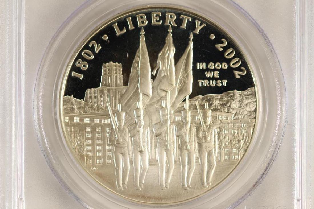 2002-W WEST POINT COMMEMORATIVE SILVER DOLLAR - 2